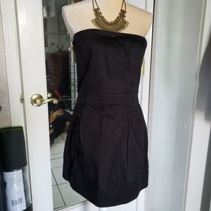 French connection black strapless dress